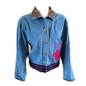 Chico's Design Women's Denim Jean Jacket Size 2